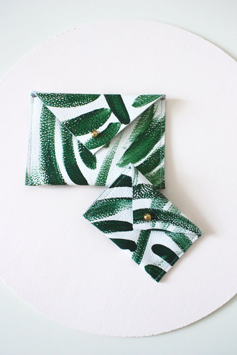 Palm Frond Envelope Card Case