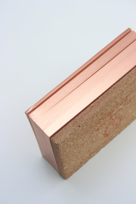 Starry Lines Rose Gold Edged Noteblock