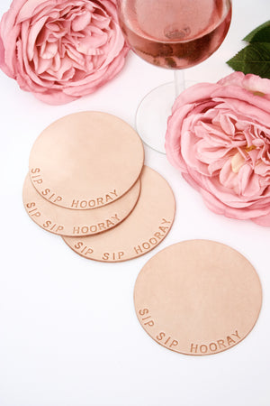 Mix and Match Leather Coasters
