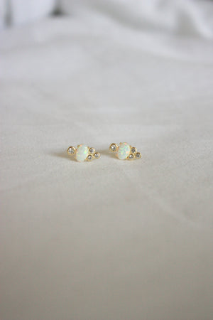 Royal Opal Stud Earring