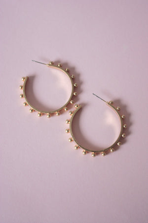 Metal Ball Hoop Earring