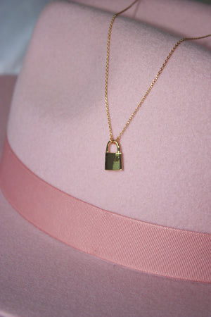 Dainty Lock Necklace