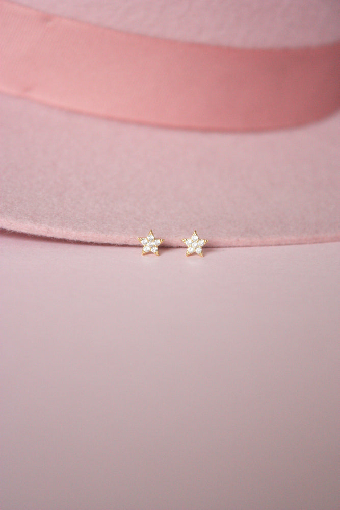 Rhinestone Star Stud Earrings