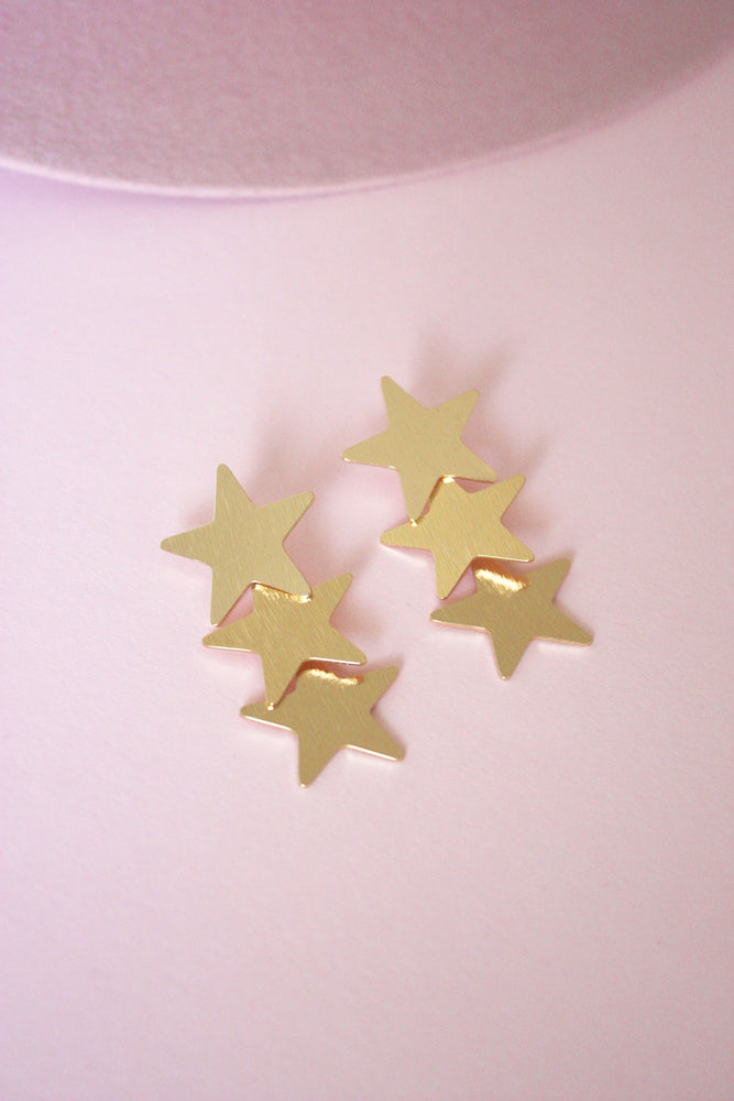 Layered Star Earring