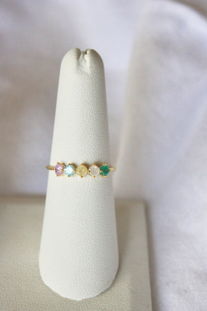 Load image into Gallery viewer, Pastel Jeweled Ring