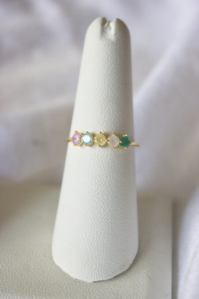 Pastel Jeweled Ring