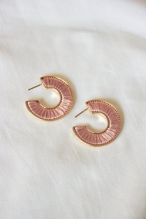 Small Threaded Hoop Earring