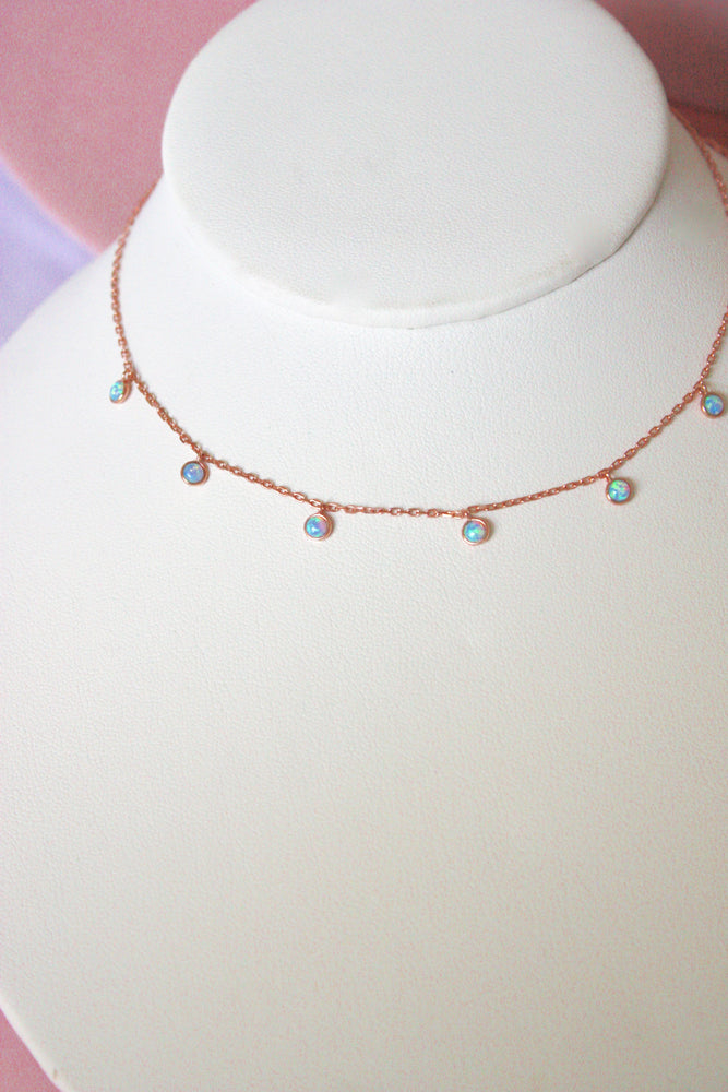 Load image into Gallery viewer, Sterling Opal Choker