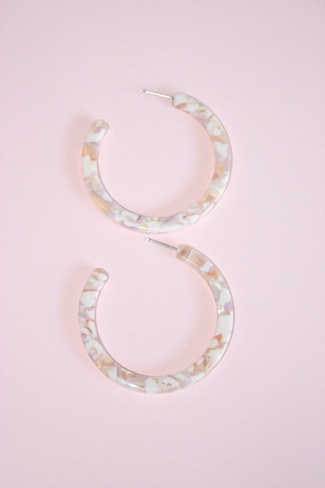 "2"" Acrylic Open Hoop Earrings"