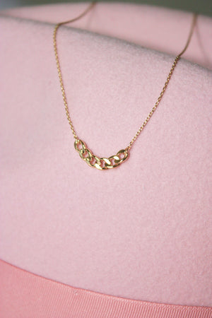 Curb Chain Charm Necklace