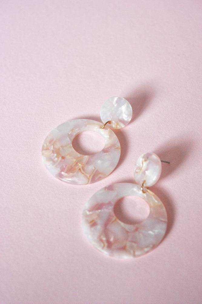 Acrylic Double Disc Earring