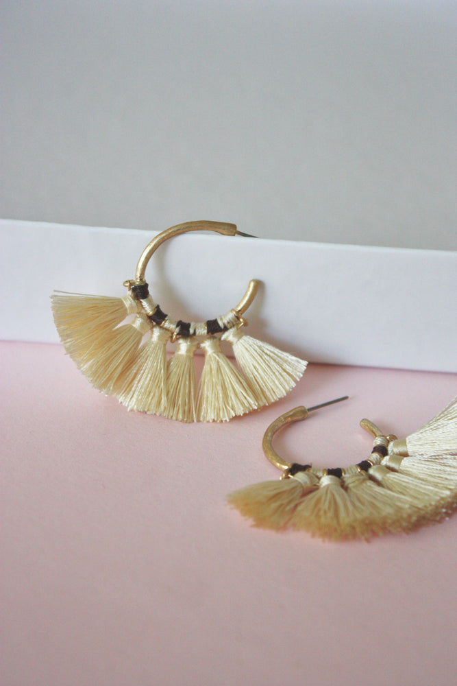 Load image into Gallery viewer, Franny Fringe Hoops