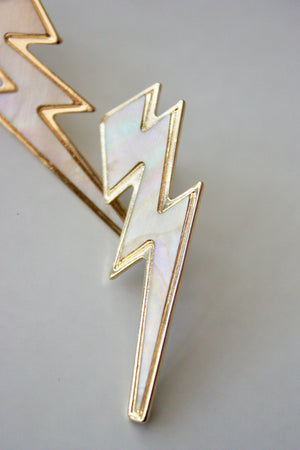 Pearlescent Lightning Bolt Stud
