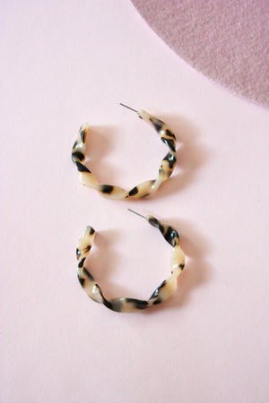 Twisted Tortoise Hoop Earring