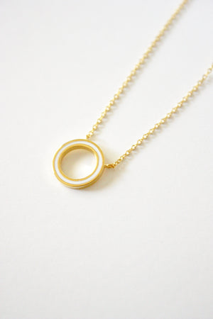 Round Enamel Necklace