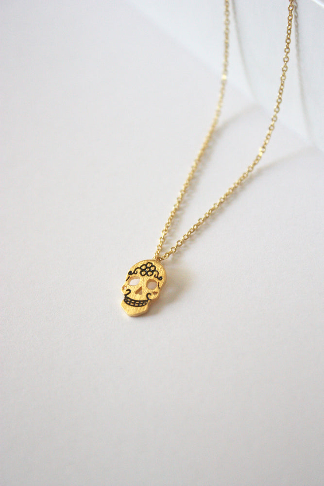 Mini Skull Charm Necklace
