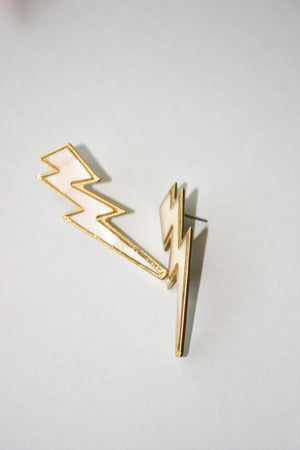 Load image into Gallery viewer, Pearlescent Lightning Bolt Stud