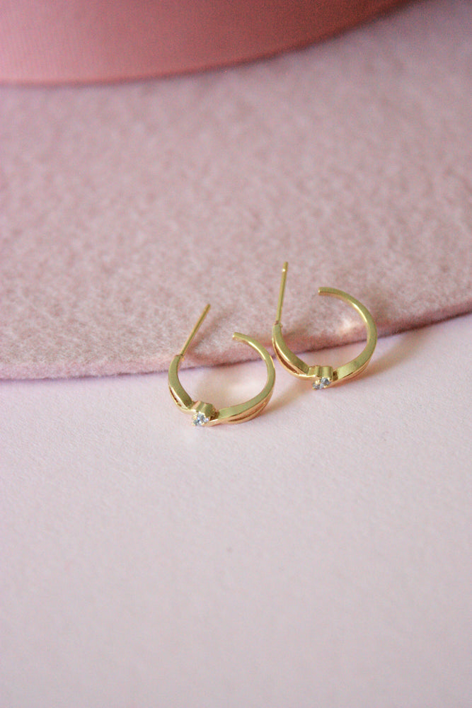 Load image into Gallery viewer, Mini Jewel Hoop Earring