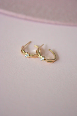 Mini Jewel Hoop Earring