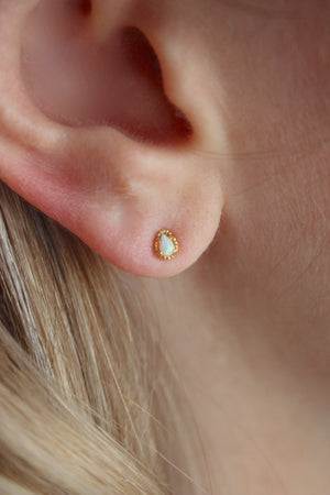 Load image into Gallery viewer, Tiniest Opal Stud Earring