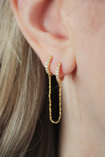Sybll Double Hoop Chain Earring