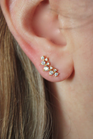 Crown Town Stud Earring