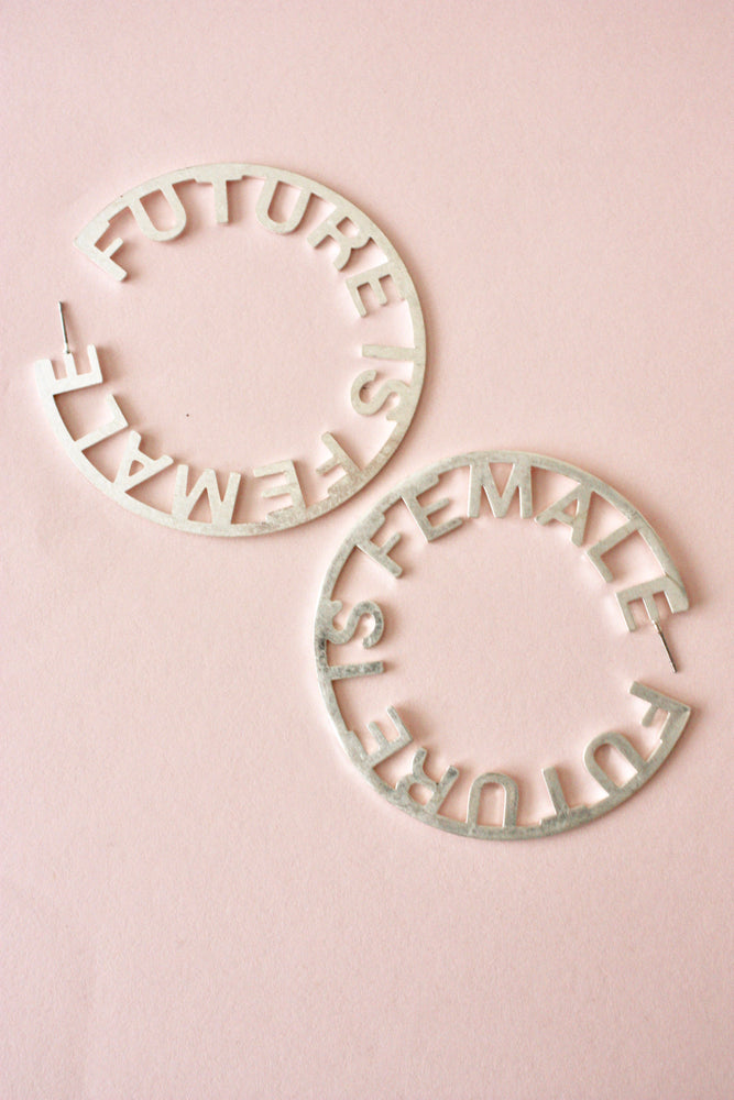 Future is Female Hoop Earring
