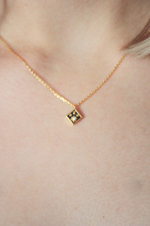 Mini Square Star Charm Necklace