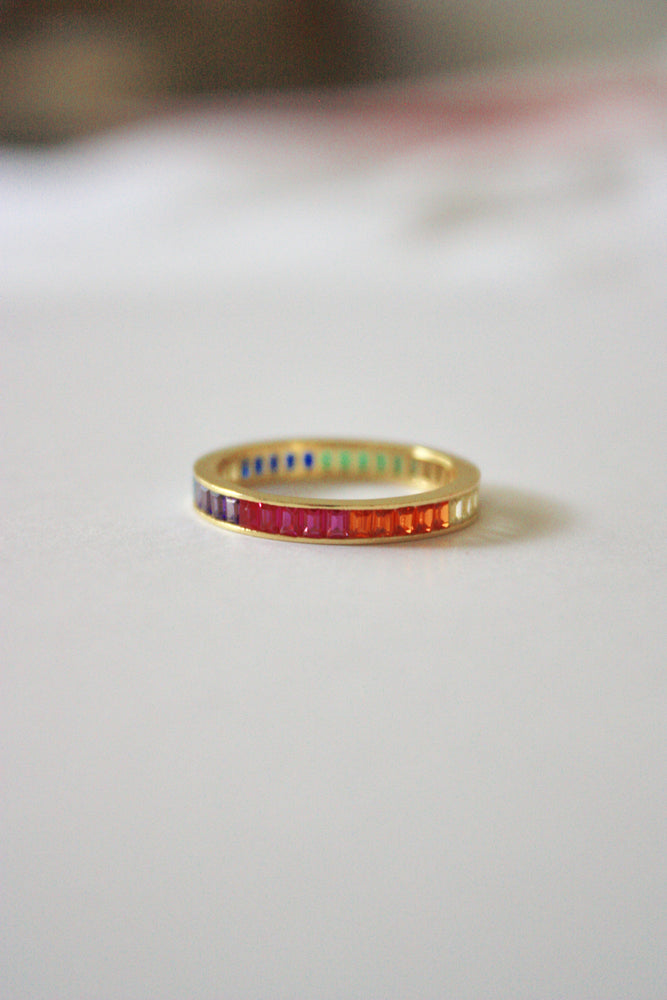 Load image into Gallery viewer, Rainbow Eternity Ring