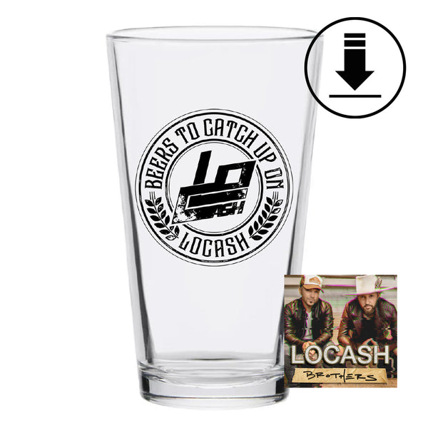 BTCUO Pint Glass + Digital Album