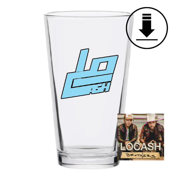 Logo Pint Glass + Digital Album