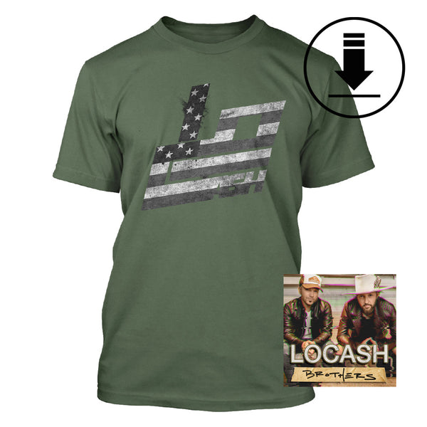 Stars and Stripes Tee + Digital Album