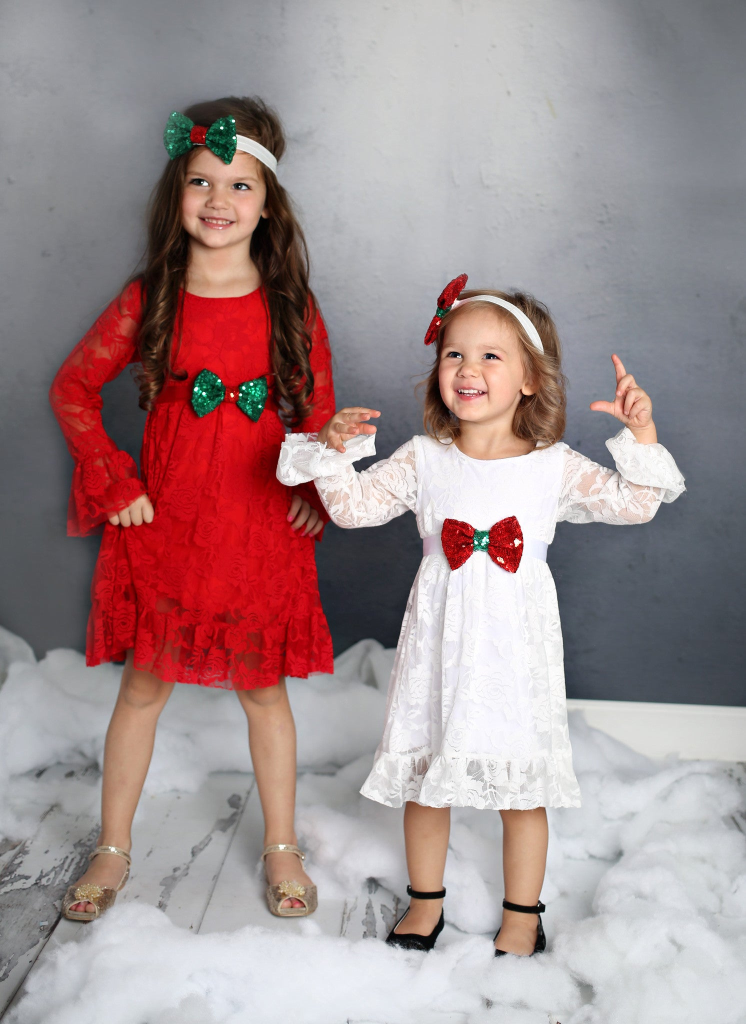 Christmas Bow Dress - Red - Fancy Pants