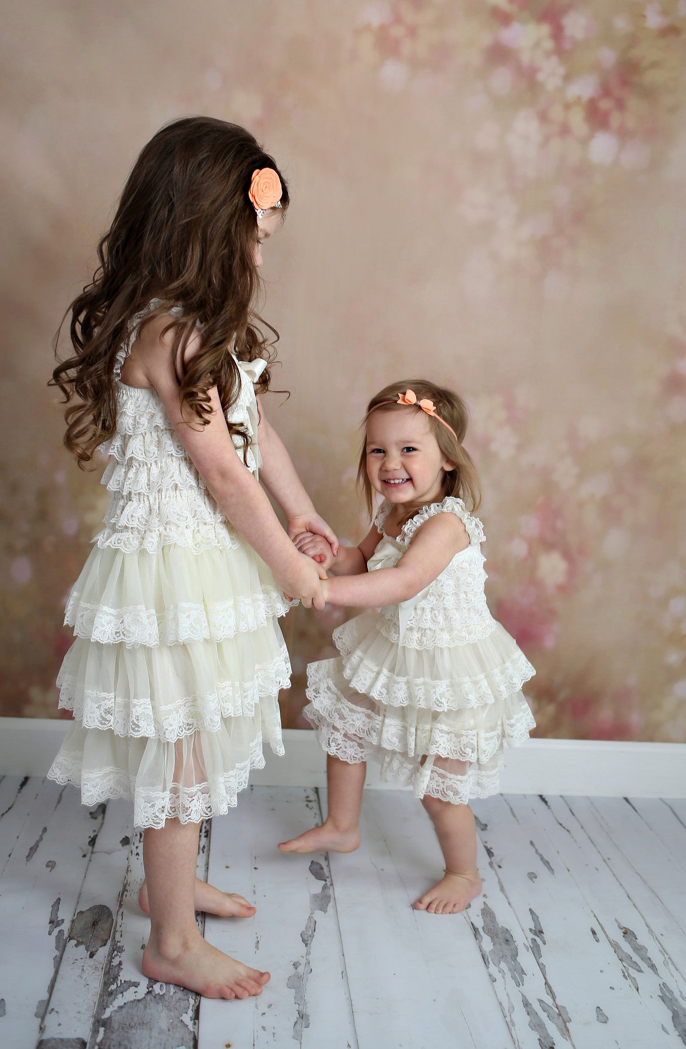 Flower Girl Dress Lace Rustic