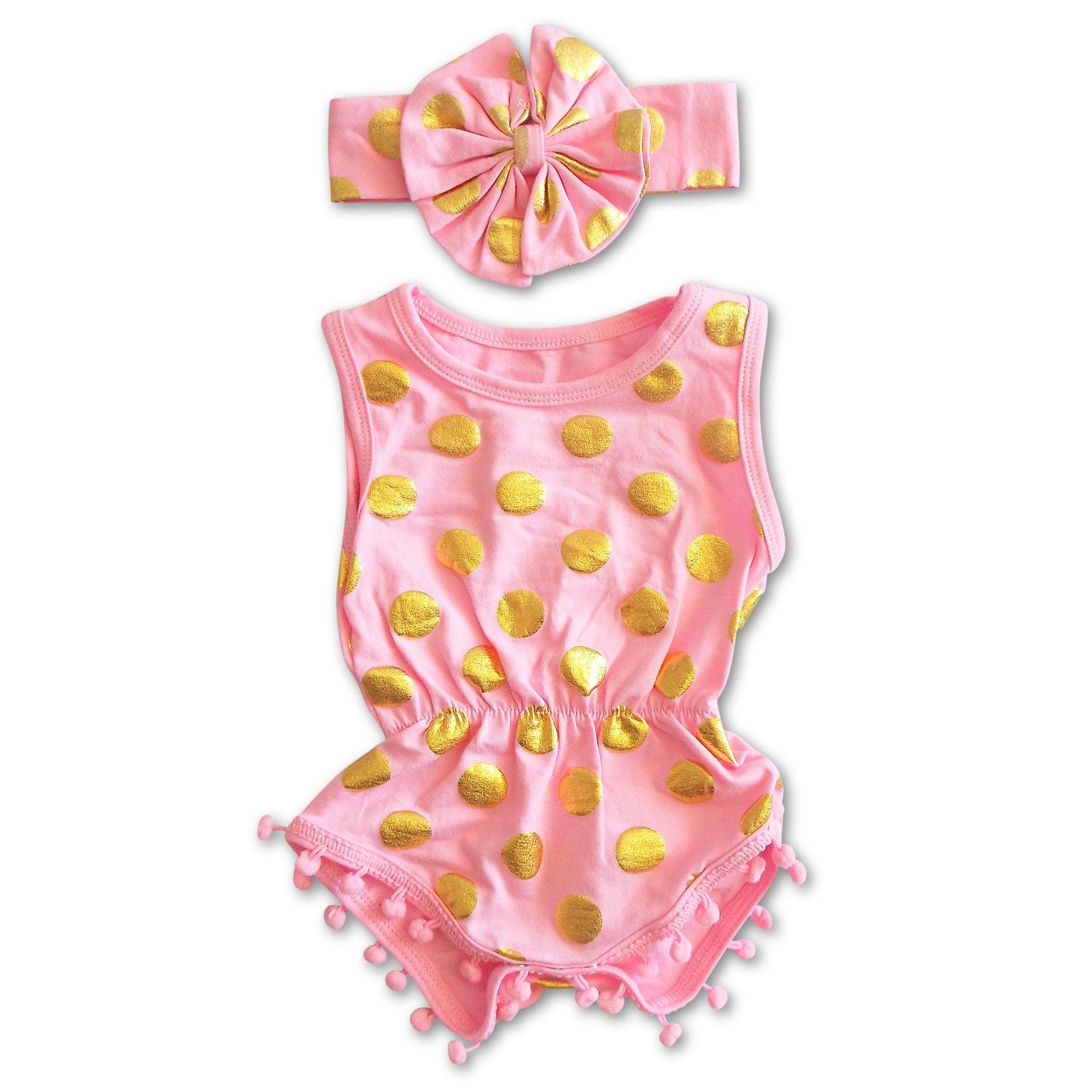 b7b18ccb941 pink and gold baby romper
