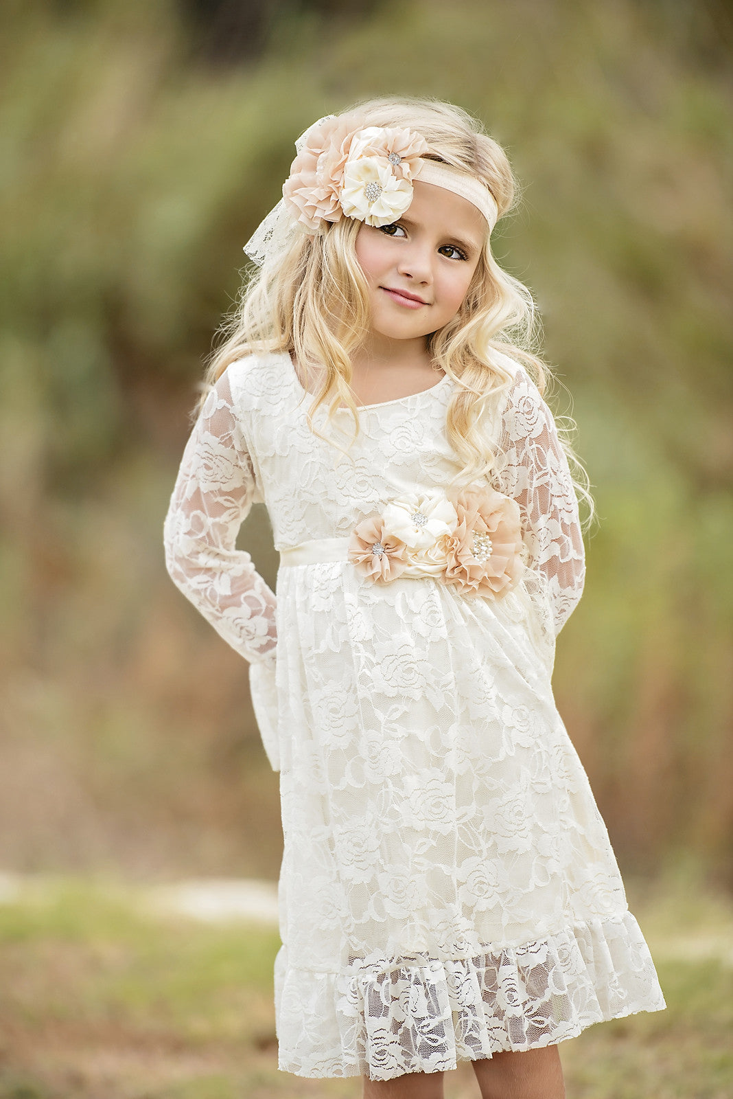 Dresses fancy pants girls boho ivory lace dress flower girl dress ivory flower girl dress izmirmasajfo Images