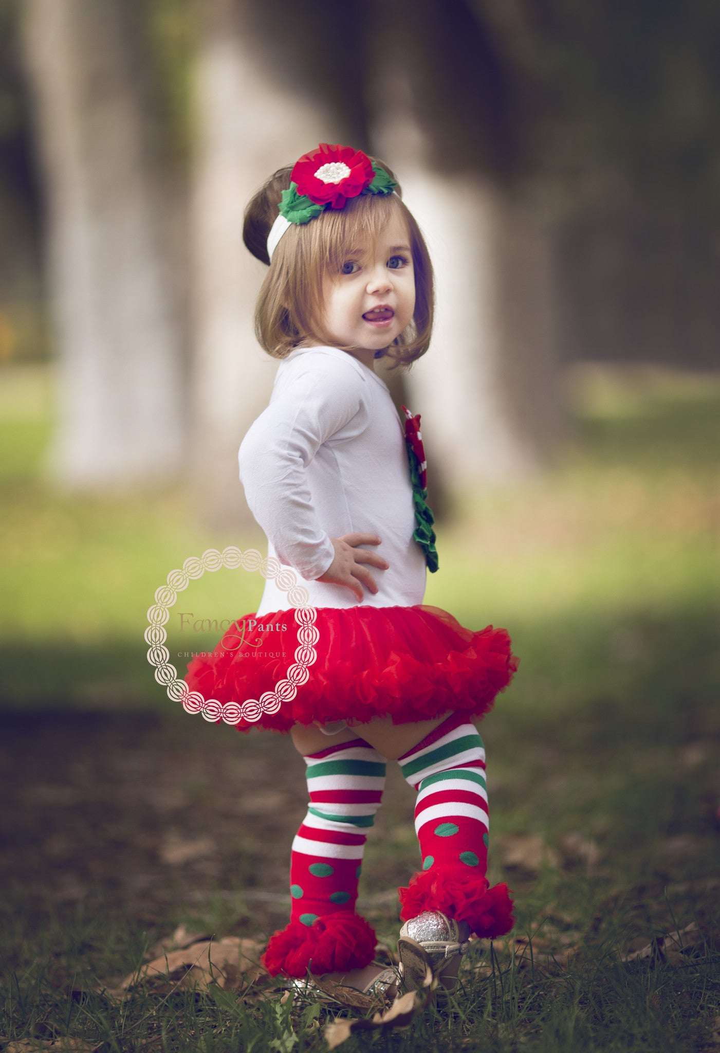 Christmas Tree Tutu Dress Fancy Pants