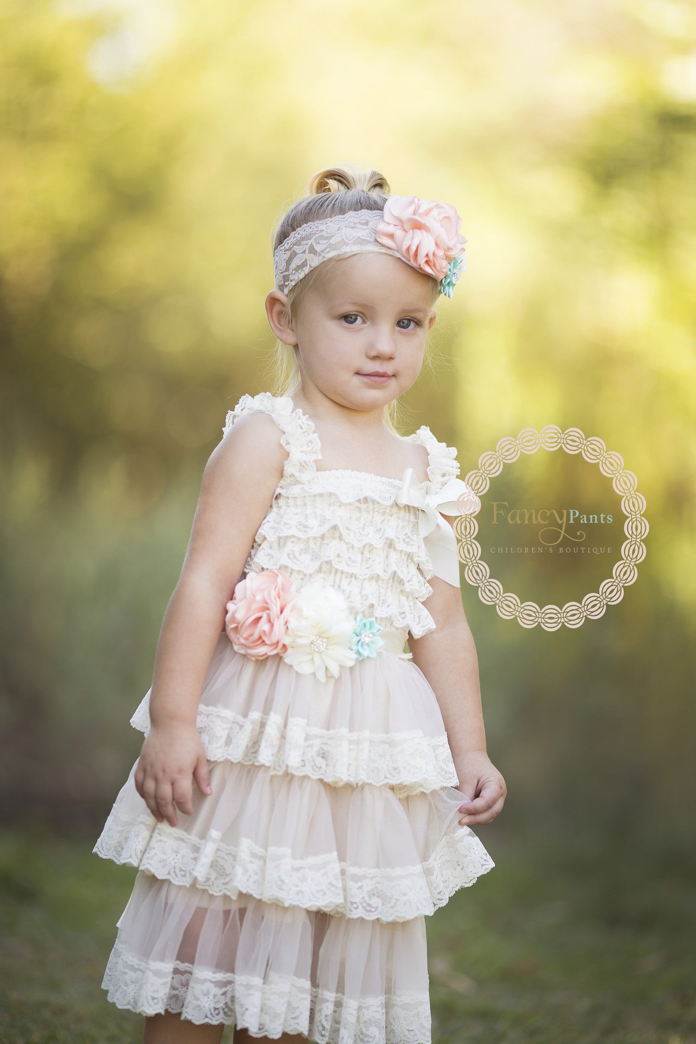 Coral mint rustic chic champagne lace dress fancy pants flower girl dresses champagne lace dress flower girl dress cheap country flower girl izmirmasajfo