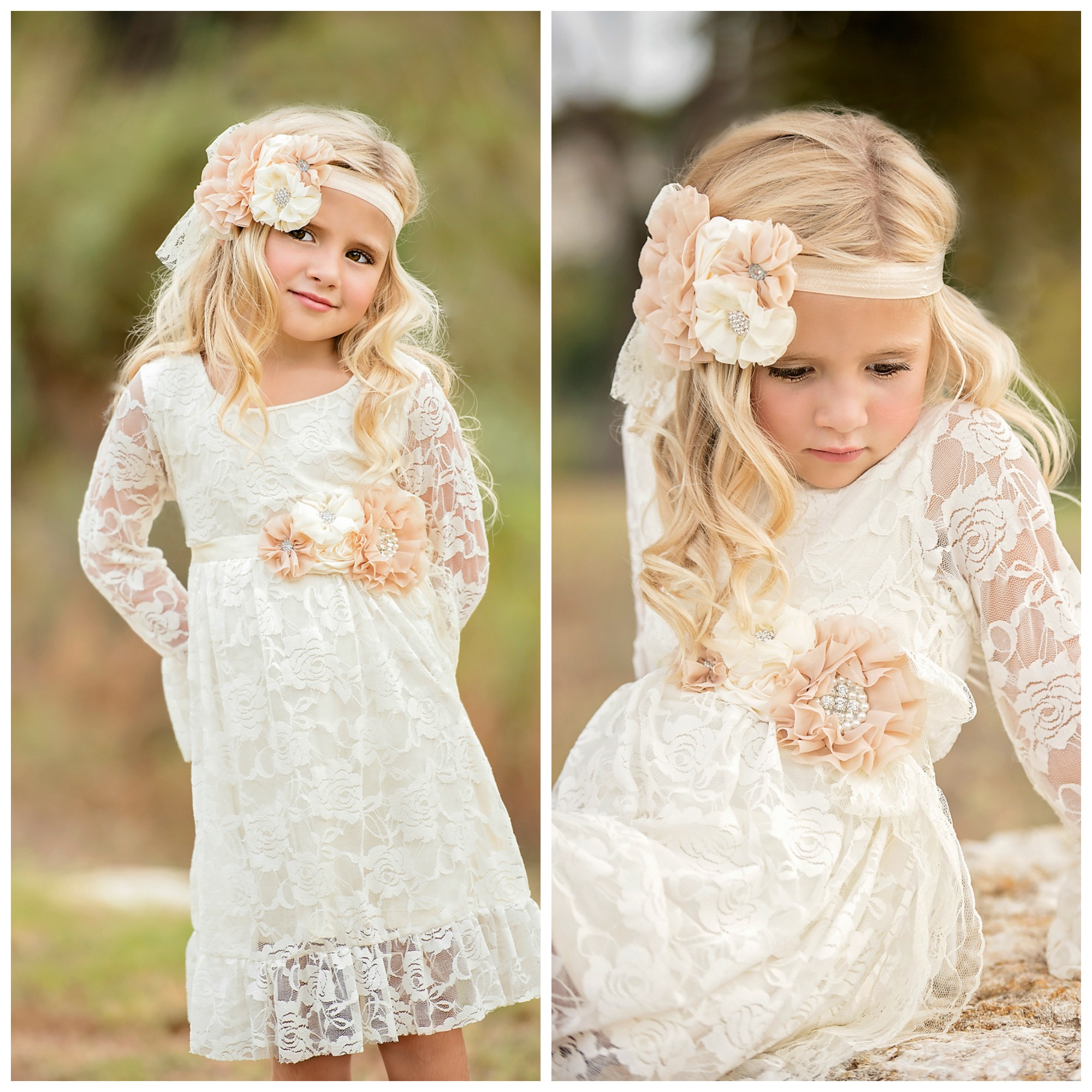 Sweetheart Boho Chic Ivory Lace Dress Set - Fancy Pants