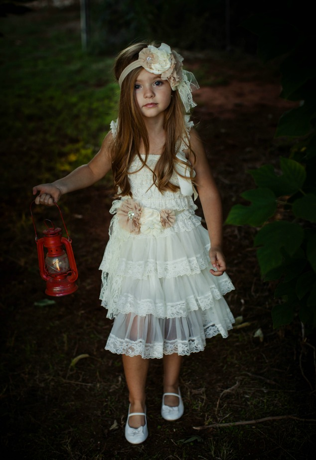 Lace Flower Girl