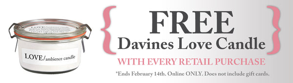FREE Davine Love Candle with purchase