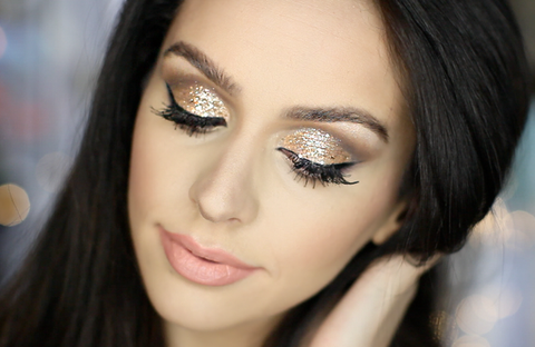 holiday beauty tips shimmery eye makeup