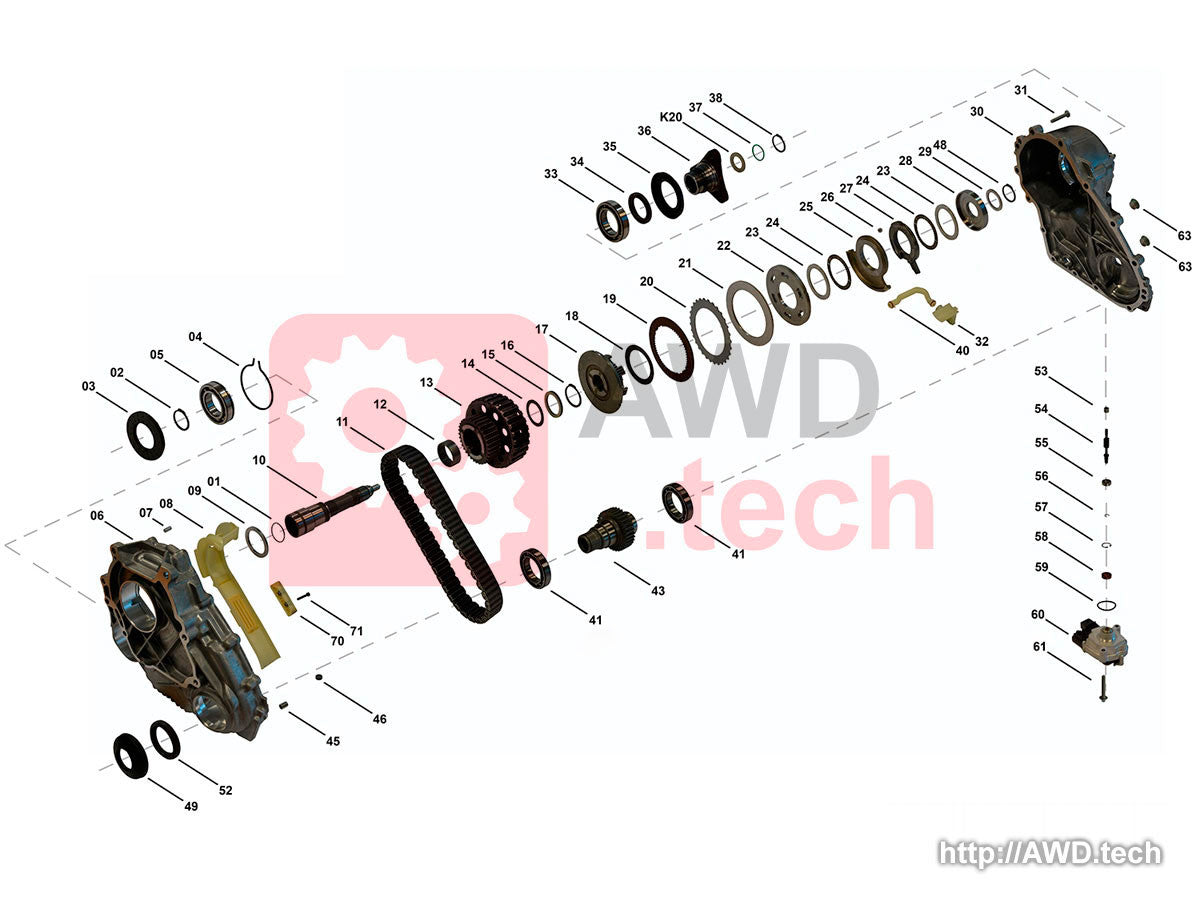 ATC-450 Transfer Case Diagram - Parts Catalog