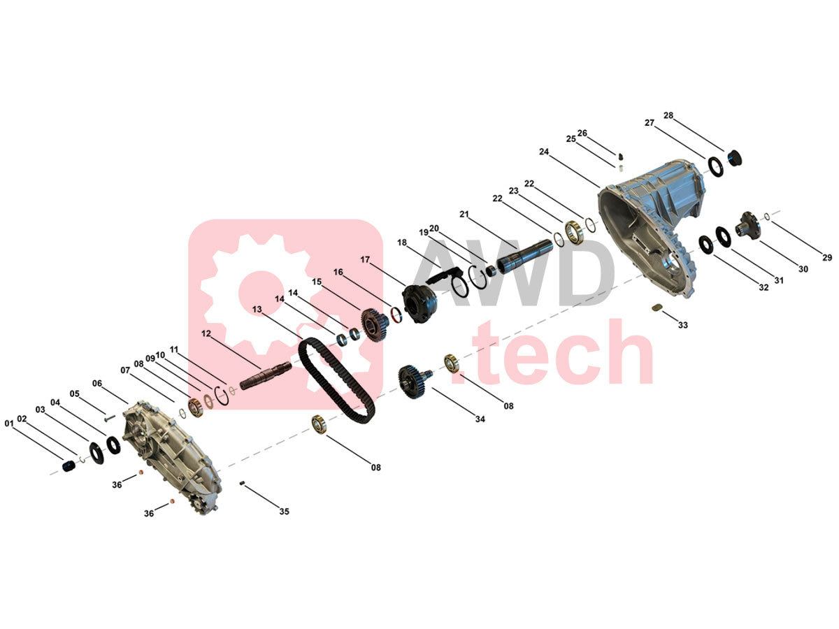 PL72T Transfer Case Schema - Parts Catalog