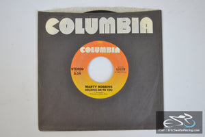 "Marty Robbins - An Occasional Rose, Holding On To You 45/7"" Vinyl Album 1980 Columbia Records"