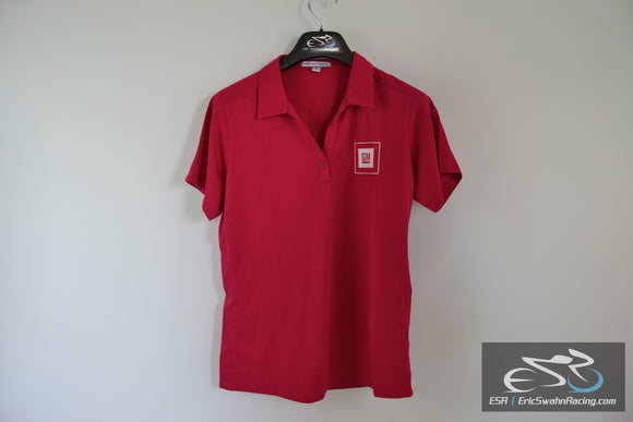 Port Authority GM Embroidered Polo Shirt Ladies L Raspberry