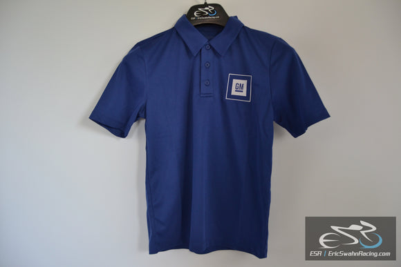 Port Authority GM Embroidered Polo Shirt Youth M Blue
