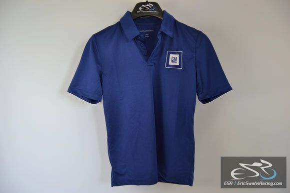 Port Authority GM Embroidered Polo Shirt Youth L Blue