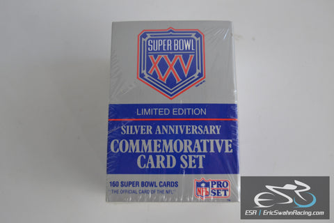 NFL Super Bowl XXV 1990 Limited Edition Silver Anniversary Commemorative Card Set