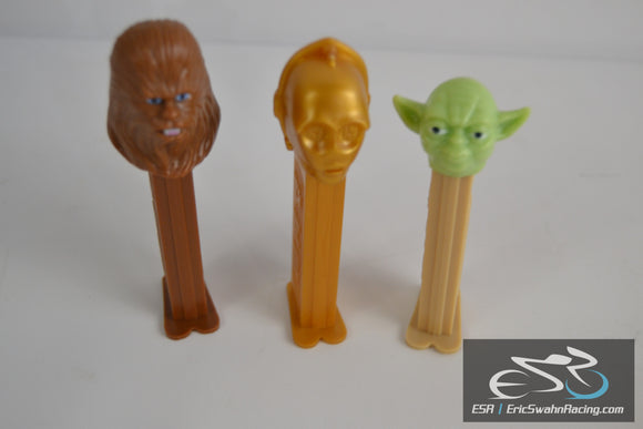Star Wars Pez Dispensers Lucasfilm Ltd. 1997 Chewbacca, C-3PO, Yoda